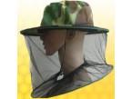 Včelařský klobouk se závojem ze síťoviny kamuflážní barvy